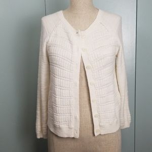 Anthropologie MOTH white cardigan size S -P1